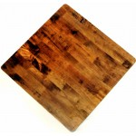 900mm, Timber Rubberwood Table Top, Rebate Edge, Square,  L/Oak